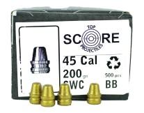 TopScore 45cal 200gr SWC x500