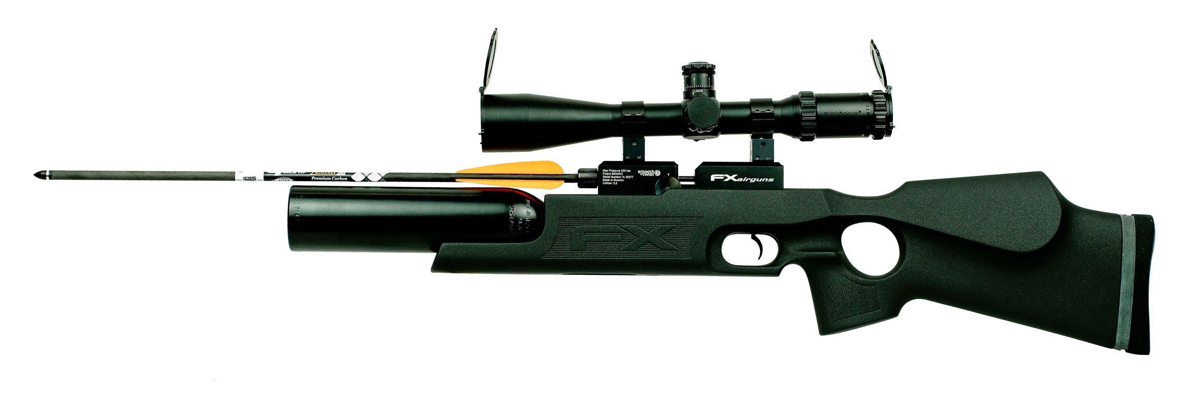 empolotez signature firearmsfx royale 400 arrow syntetic pcp air rifle